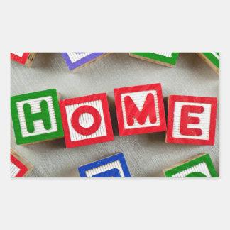 Home Rectangular Sticker
