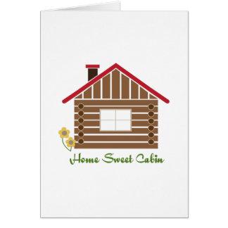 Home Sweet Cabin Greeting Card