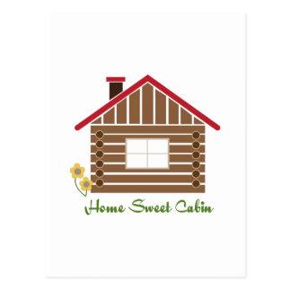 Home Sweet Cabin Postcard
