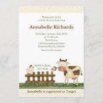 Home Sweet Farm Cow Baby Shower Invitation