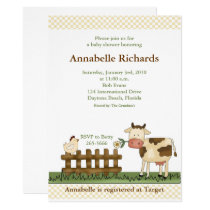 Home Sweet Farm Cow Invitation 5 x 7