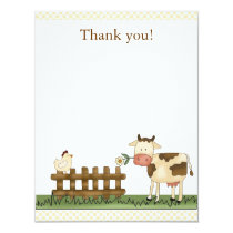 Home Sweet Farm Cow Thank you Card 4.25 x 5.5