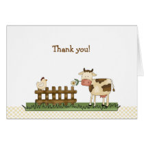 Home Sweet Farm Folded Thank you notes