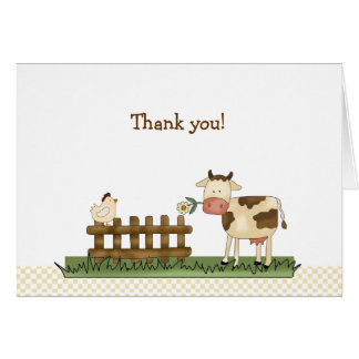 Home Sweet Farm Folded Thank you notes Greeting Cards