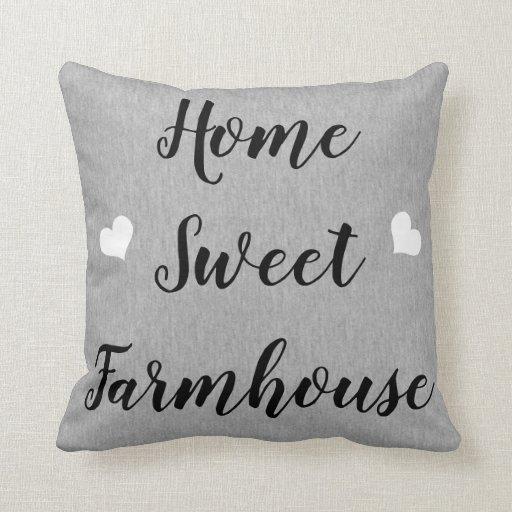Home Sweet Farmhouse Pillow Gray