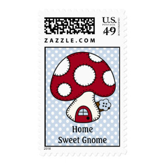 Home Sweet Gnome Red Mushroom Fairy House Stamps