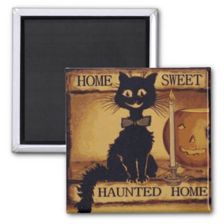 Home Sweet Haunted Home 2 Inch Square Magnet