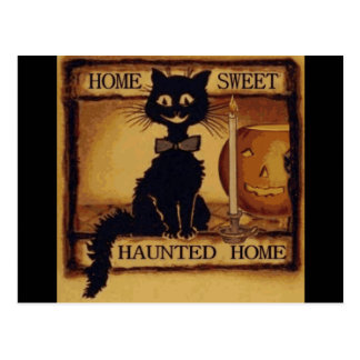 Home Sweet Haunted Home Postcard