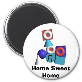 Home Sweet Home 2 Inch Round Magnet
