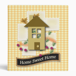 Home Sweet Home 3 Ring Binder