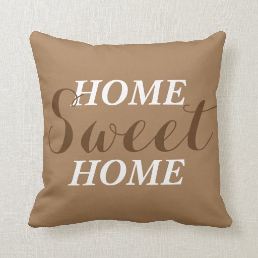Throw Pillow That Says Home :
