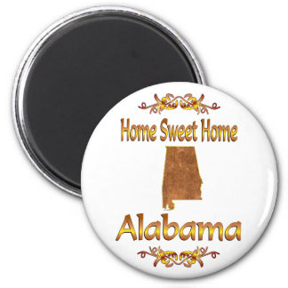 Home Sweet Home Alabama 2 Inch Round Magnet