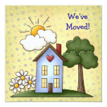 """Home Sweet Home Announcement Card 5.25"""" Square Invitation Card"""