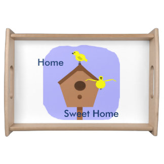 Home Sweet Home bird nest box on a tray
