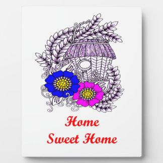 Home Sweet Home Birdhouse Plaque
