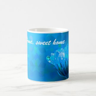 Home sweet home Blue Rose background Coffee Mug