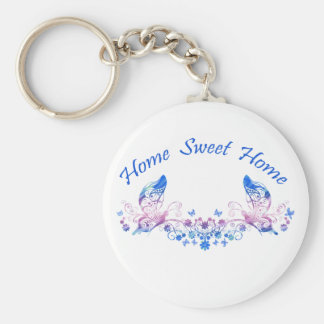 Home Sweet Home Butterfly Design Keychain