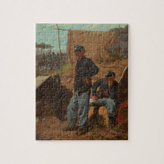 Home, Sweet Home, c.1863 (oil on canvas) Jigsaw Puzzle