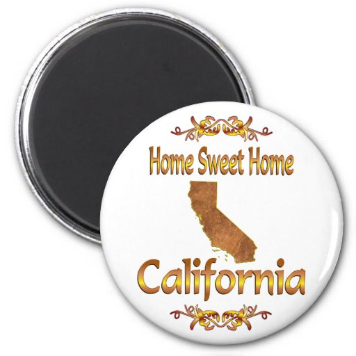 Home Sweet Home California Refrigerator Magnets