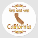 Home Sweet Home California Round Stickers