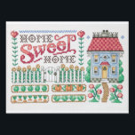"""Home Sweet Home Card Yard Sign<br><div class=""""desc"""">Land of Enchantment; Home of your heart! A charming front yard garden with a smorgasbord of fruits and vegetables. A warm and attractive sampler design will make a joyous picture with nary a weed to pull.</div>"""