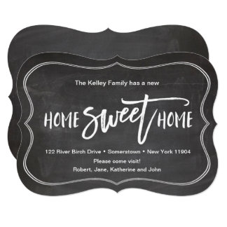 Home Sweet Home Chalkboard Moving Announcement