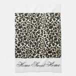 Home Sweet Home  Cheetah Print Hand Towels