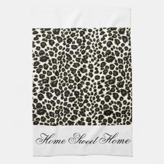 Home Sweet Home  Cheetah Print Kitchen Towel