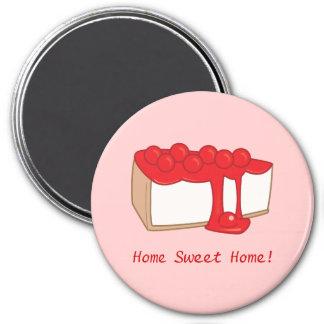 Home Sweet Home Cherry Cheesecake Magnet
