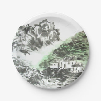 Home Sweet Home Chinese Mountain Landscape Plates