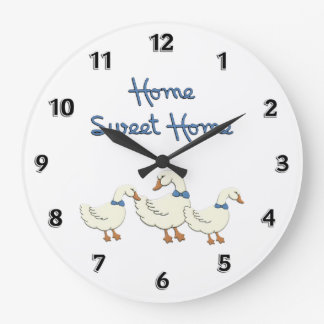 Home Sweet Home Round Wall Clock