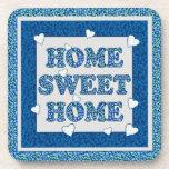 Home Sweet Home Coaster, Blue Mix'n'Match Patterns