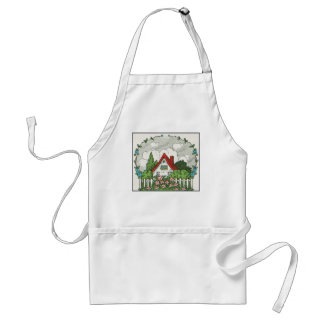 Home Sweet Home Cottage Adult Apron