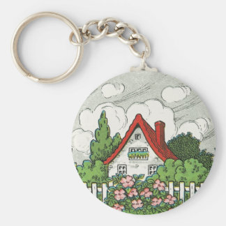 Home Sweet Home Cottage Keychain