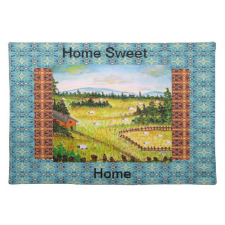 home sweet home cotton napkins, placemat