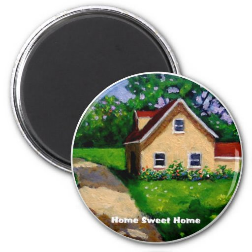 HOME SWEET HOME COUNTRY COTTAGE FRIDGE MAGNET