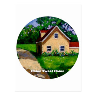 HOME SWEET HOME COUNTRY COTTAGE POSTCARD