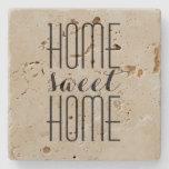 Home Sweet Home Custom Color Stone Coaster