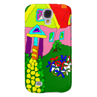 Home sweet home - cute colorful house samsung s4 case