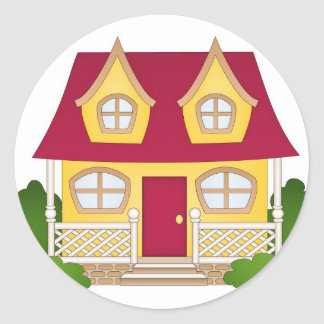 Home Sweet Home - Daytime Classic Round Sticker