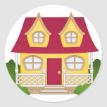 Home Sweet Home - Daytime Round Stickers
