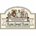 "&quot;Home Sweet Home&quot; - Decorative Door Sign Statuette<br><div class=""desc"">&quot;Home Sweet Home&quot; Decorative door or room sign. Design by Jean Hall</div>"