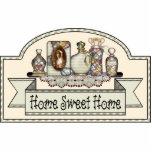 "&quot;Home Sweet Home&quot; - Decorative Door Sign Statuette<br><div class=""desc"">&quot;Home Sweet Home&quot; Decorative door or room sign. Design by Jean Hall</div>"