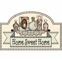 """Home Sweet Home"" - Decorative Door Sign Statuette"