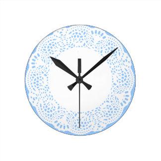 Home Sweet Home Doily Design Wall Clocks
