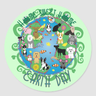 Home Sweet Home Earth Day Animals Stickers