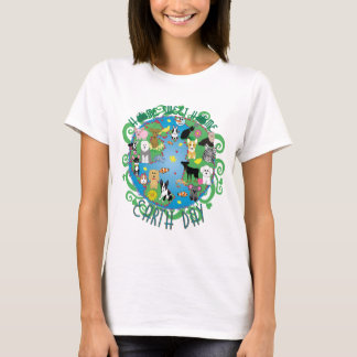 Home Sweet Home Earth Day Animals T-Shirt