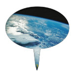 Home Sweet Home Earth from Orbit Cake Pick
