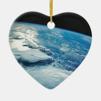 Home Sweet Home Earth from Orbit Ceramic Ornament