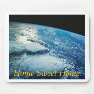 Home Sweet Home Earth from Orbit Mousepads